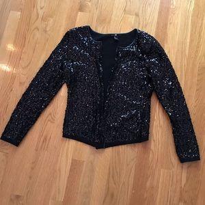 H&M sequin sweater cardigan